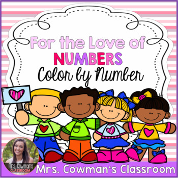 Valentine's Day Color By Number: Differentiated Addition Freebie