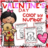 Valentine's Day Color By Number FREEBIE!!
