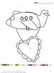 Valentine's Day Color By Code Preschool Kindergarten Special Education Autism