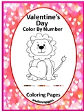 Valentine's Day Color By Code Preschool Kindergarten Speci