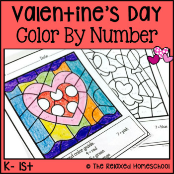 Valentine's Day Color By Number - Simple Math
