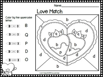 Valentine's Day Color By The Code:  NO PREP Literacy and Math Activities