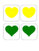 Valentine's Day - Color Heart - Matching and Memory Game - 11 pairs!