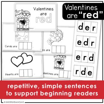 Valentine's Day Color Word Emergent Reader