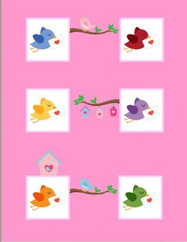 Valentine's Day Color Words File Folder