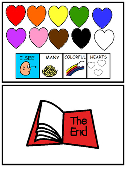 Valentine's Day Color and Counting Adapted Book (Autism, Speech)