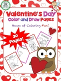 Valentine's Day Color and Draw Pages -  Coloring and Drawing Activity
