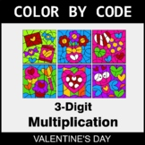 Valentine's Day Color by Code - 3-Digit Multiplication