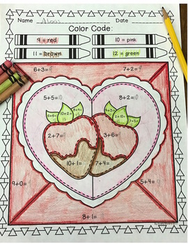 Valentine's Day Color by Code:  Addition and Subtraction