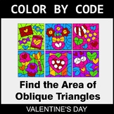 Valentine's Day Color by Code - Area of Oblique Triangles