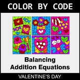 Valentine's Day Color by Code - Balancing Addition Equations