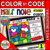 Valentine's Day Color by Code Boom Cards (Half Note - REGU