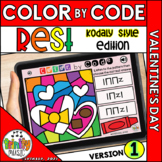 Valentine's Day Color by Code Boom Cards (Quarter Rest - K
