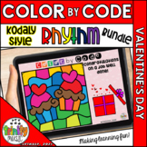 Valentine's Day Color by Code Boom Cards (Rhythm Bundle -