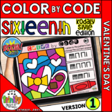 Valentine's Day Color by Code Boom Cards (Sixteenths - KOD