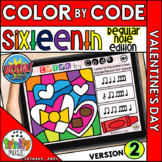 Valentine's Day Color by Code Boom Cards (Sixteenths - REG