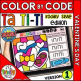 Valentine's Day Color by Code Boom Cards (Ta Ti-Ti - KODAL