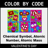 Valentine's Day Color by Code - Chemical Symbol, Atomic Nu