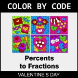 Valentine's Day Color by Code - Converting Percents to Fractions