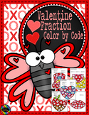 Valentine's Day Color by Code Fractions/Equivalent Fractions