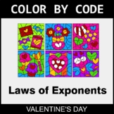 Valentine's Day Color by Code - Laws of Exponents