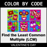 Valentine's Day Color by Code - Least Common Multiple (LCM)