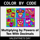 Valentine's Day Color by Code - Multiplying by Powers of T