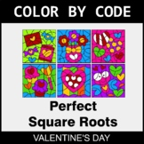 Valentine's Day Color by Code - Perfect Square Roots