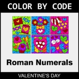Valentine's Day Color by Code - Roman Numerals