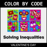Valentine's Day Color by Code - Solving Inequalities with