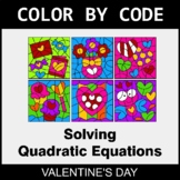 Valentine's Day Color by Code - Solving Quadratic Equations