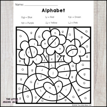 Valentine's Day Color by Letter | Valentine's Day Alphabet Coloring Pages