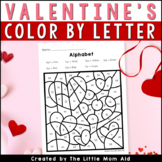 Valentine's Day Color by Letter | Valentine's Day Alphabet