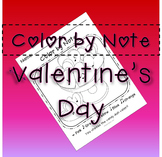 Valentine's Day Color by Note NO PREP Music Activity