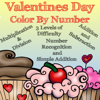 Valentine's Day Color by Number     ~ No Prep ~ New Listing