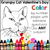 Valentine's Day Color by Number: A Valentine's Day Activity for ANY Subject
