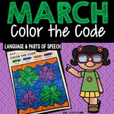 March Color by Code | Language | Parts of Speech | March Activities