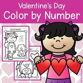 Valentine's Day Activities: Color by Number 11-20 (Kindergarten)