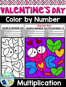 Valentine's Day Color by Number Multiplication Freebie
