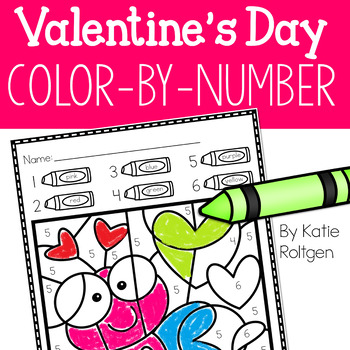 Valentine's Day Color-by-Number Pages