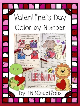 Valentine's Day Color by Number