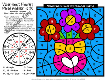 Valentine's Day Color by Number: Valentine's Day Math Games Addition Subtraction