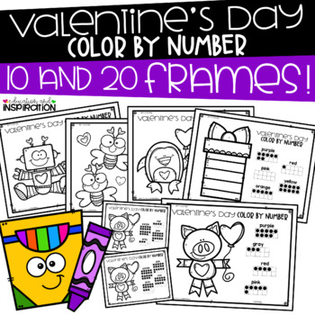 Valentine's Day Color by Number by Education and Inspiration
