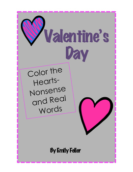 Valentine's Day Color the Hearts