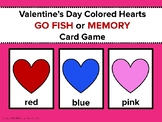 Valentine's Day Colored Hearts Go Fish or Memory Card Game