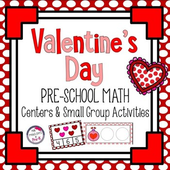 Valentine's Day Colorful Hearts Math Centers and Small Groups