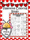 Valentine's Day Coloring Bingo