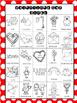Valentine's Day Coloring Bingo
