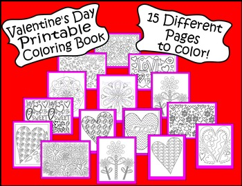 Valentine's Day Coloring Bundle