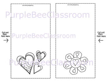 Valentine's Day Coloring Cards Set #2